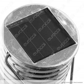 Velamp Lampada Filo MicroLED Forma Bulb da Giardino con Pannello Solare - mod. SPK08
