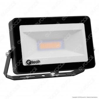 Qtech Faro LED SMD 20W Ultra Sottile da Esterno Colore Nero - mod. 70040005