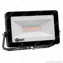 Qtech Faro LED SMD 30W Ultra Sottile da Esterno Colore Nero - mod. 70040008