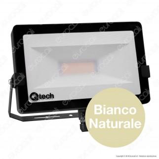 Qtech Faro LED SMD 50W Ultra Sottile da Esterno Colore Nero - mod. 70040010