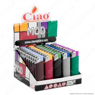 Ciao Accendino Mod Tinta Unita Elettronico - Box da 50 Accendini