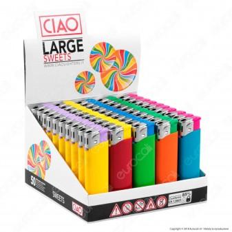 Ciao Accendino Sweets Tinta Unita Elettronico - Box da 50 Accendini