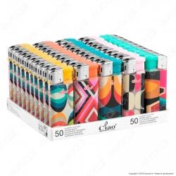 Ciao Abstract Accendino Mini Elettronico Ricaricabile - Box da 50 Accendini