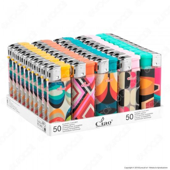 Ciao Absract Accendino Mini Elettronico Ricaricabile - Box da 50 Accendini