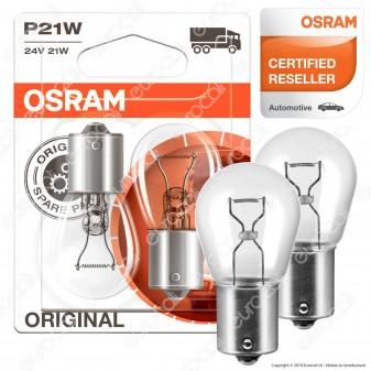 Osram Original Line per Camion 21W - 2 Lampadine P21W