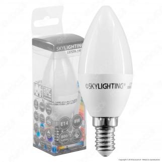 SkyLighting Lampadina LED E14 8W Candela - mod. C37CPA-1408