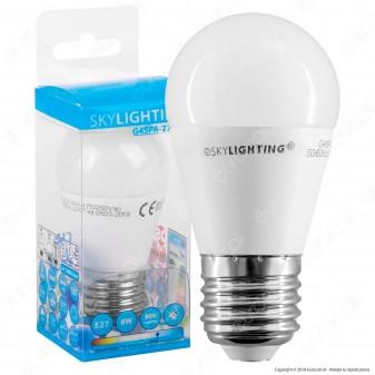 SkyLighting Lampadina LED E27 8W MiniGlobo P45 - mod. G45PA-2708