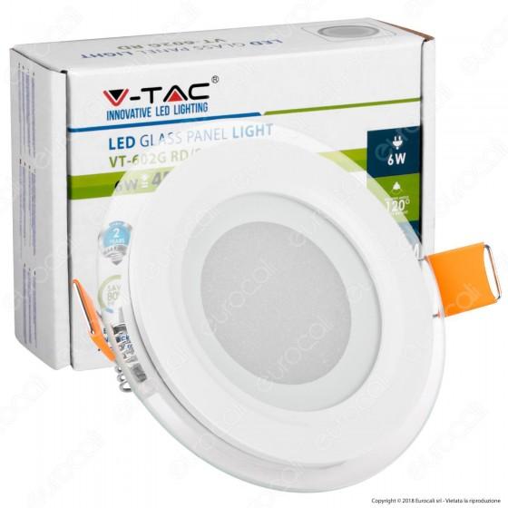 V-Tac VT-602G RD Pannello LED Rotondo 6W SMD2835 da Incasso - SKU 4740 / 6277