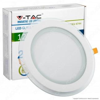 V-Tac VT-1202G RD Pannello LED Rotondo 12W SMD2835 da Incasso - SKU 4744 / 6279