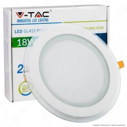 V-Tac VT-1881G RD Pannello LED Rotondo 18W SMD2835 da Incasso - SKU 4760 / 6281