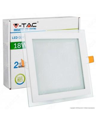 V-Tac VT-1881G SQ Pannello LED Quadrato 18W SMD2835 da Incasso - SKU 4746 / 6280