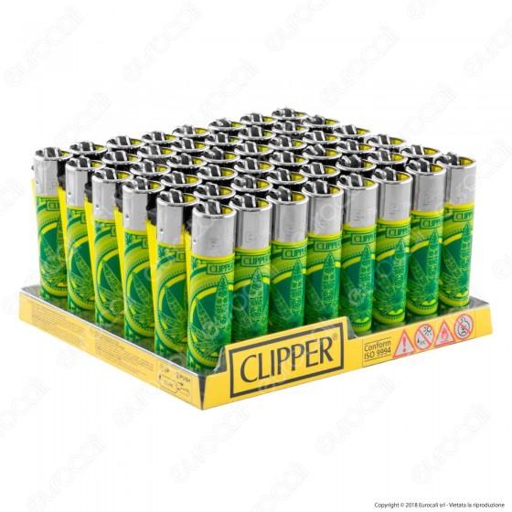 Clipper Large Fantasia Legalize It Leaf - Box da 48 Accendini