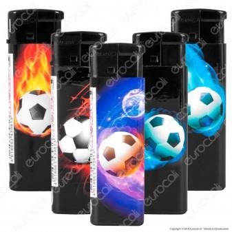 Atomic Electronic Flat Football Accendino Maxi Elettronico Ricaricabile - 5 Accendini