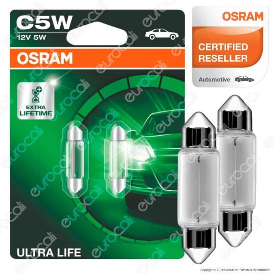Osram Ultra Life Lunga Durata - 2 Lampadine C5W
