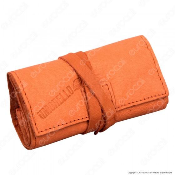 Il Morello Pocket Mini Portatabacco in Vera Pelle Reciclata Colore Rosa