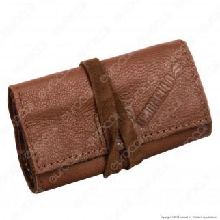 Il Morello Pocket Mini Portatabacco in Vera Pelle Colore Marrone 6