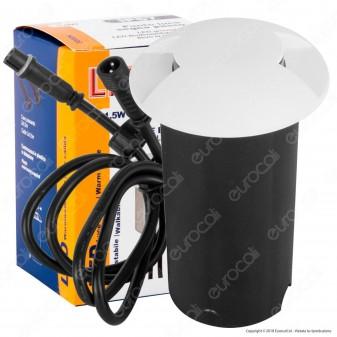 Life Punto Luce LED Bilaterale 1,5W Segnapasso da Interramento in Alluminio IP67 e Cover Intercambiabile - mod. 39.9PL0510C