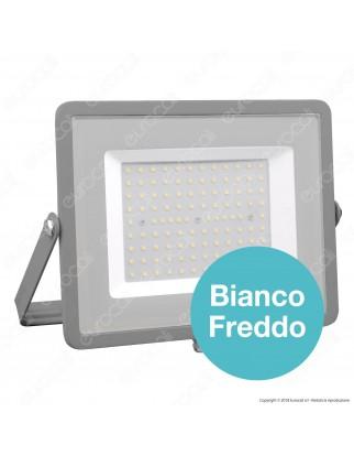 V-Tac PRO VT-100 Faro LED SMD 100W Ultrasottile Chip Samsung da Esterno Colore Grigio - SKU 472 / 473 / 474