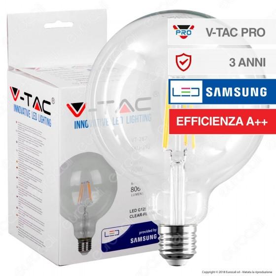 V-Tac PRO VT-287 Lampadina LED E27 6W Globo G125 Chip Samsung - SKU 292