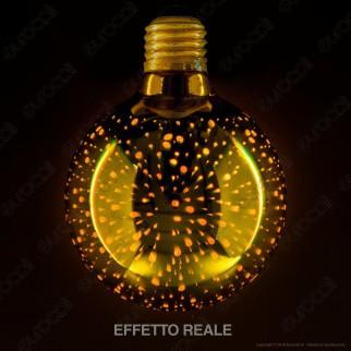 Girard Sudron Lampadina E27 Filamento LED Cosmos 4W Globo G95 Vetro Specchiato Oro Effetto 3D