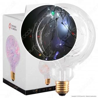 Girard Sudron Lampadina E27 Filo MicroLED RGB Happy In 1,5W Globo G125 Effetto Lucciole