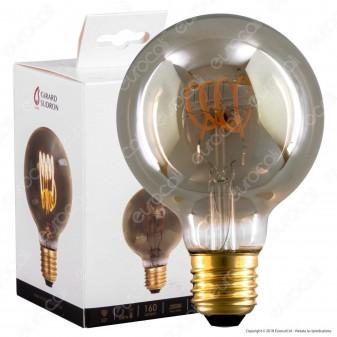 Girard Sudron Lampadina E27 Filamento LED a Spirale 4W Globo G80 con Vetro Ambrato Oscurato Dimmerabile - mod. 716683