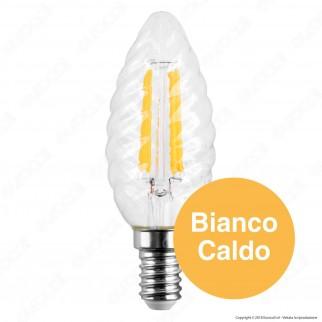 V-Tac PRO VT-274 Lampadina LED E14 4W Candela Twist Filament Chip Samsung - SKU 279