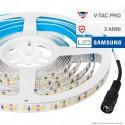 V-Tac PRO VT-5-120 Striscia LED 2835 Monocolore 120 LED/metro Chip Samsung - Bobina da 5 metri - SKU 323 / 324 / 325