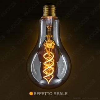 Girard Sudron Lampadina E27 Filamento LED a Doppia Spirale 4W Bulb con Vetro Ambrato Oscurato Dimmerabile - mod. 716695