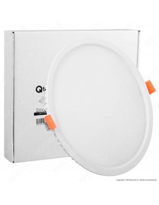 Qtech Pannello LED Rotondo 25W SMD da Incasso con Driver - mod. 80000049 / 80000050
