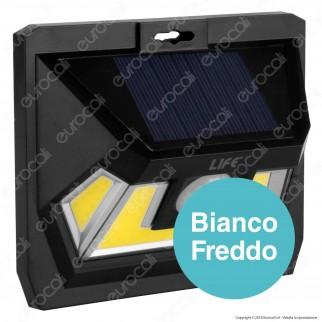 Life Lampada LED da Muro 7W con Pannello Solare e Sensore di Movimento Colore Nero - mod. 39.9PLS101B