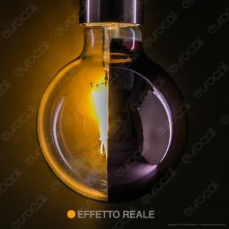 Girard Sudron Lampadina E27 Filamenti LED 8W Globo G95 con Calotta Ramata Dimmerabile - mod. 15659