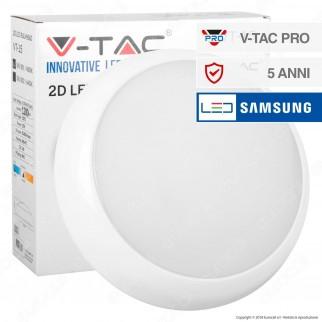 V-Tac PRO VT-15 Plafoniera LED 15W Forma Circolare Colore Bianco - SKU 801