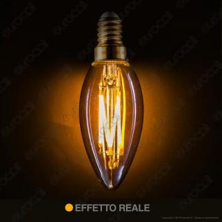 Girard Sudron Lampadina Filamento LED E14 5W Candela Ambrata Dimmerabile - mod. 713515