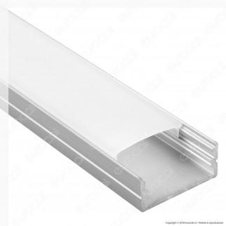 V-Tac VT-8108 4 Profili in Alluminio per Strisce LED - Lunghezza 2 metri - SKU 3352