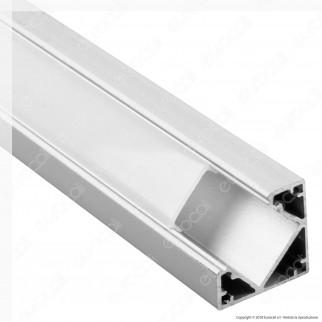 V-Tac VT-8114 4 Profili Angolari in Alluminio per Strisce LED - Lunghezza 2 metri - SKU 3356