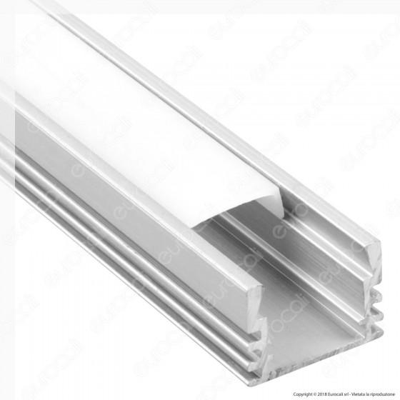 V-Tac VT-8116 4 Profili in Alluminio per Strisce LED - Lunghezza 2 metri - SKU 3358