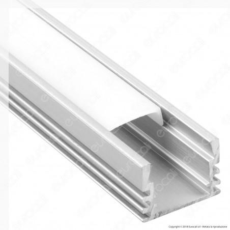 V-Tac VT-8116 Profilo in Alluminio per Strisce LED - Lunghezza 2 metri - SKU 3358