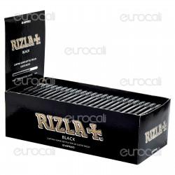 Cartine Rizla Black Corte Doppie Nere - Scatola da 25 Libretti