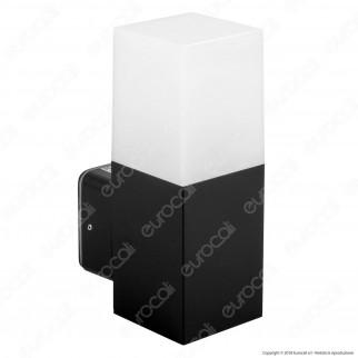 V-Tac Portalampada da Giardino Wall Light da Muro Quadrato per Lampadine GU10 - SKU 7563