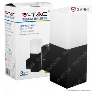 V-Tac VT-7613 Portalampada da Giardino Wall Light da Muro Quadrato per Lampadine GU10 - SKU 7563