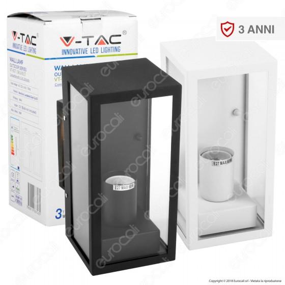V-Tac VT-837 Portalampada da Giardino Wall Light da Muro per Lampadine E27 - SKU 8517 / 8518