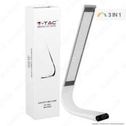 V-Tac VT-1037 Lampada da Tavolo LED 6,5W Touch Dimmerabile Ricaricabile - SKU 8520