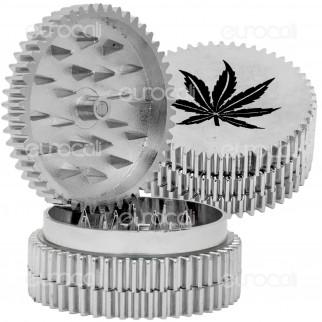 Grinder Leaf Tritatabacco 3 Parti in Metallo - Bordo Zigrinato