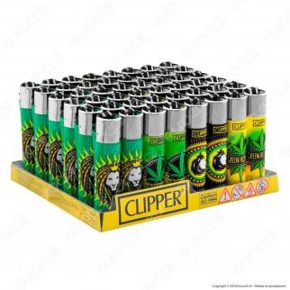 Clipper Large Fantasia Green Friendly - Box da 48 Accendini