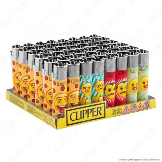 Clipper Large Fantasia Emoji Yeah - Box da 48 Accendini