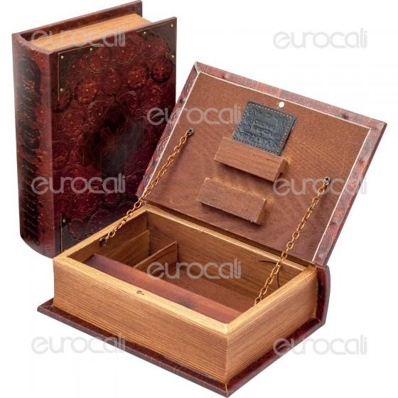 Spliff Box Stazione di Rollaggio in Legno - Libro Antico