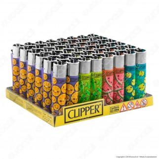 Clipper Large Fantasia Summer Print 8 - Box da 48 Accendini