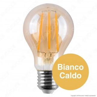 V-Tac VT-266 Lampadina LED E27 6W Bulb A60 Filamento Ambrata - SKU 286