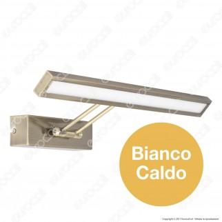 V-Tac VT-7009 Lampada da Specchio Wall Light Oro Spazzolato 8W - SKU 3901 / 3983